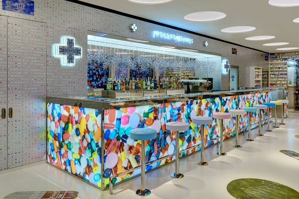 The bar at Pharmacy2.